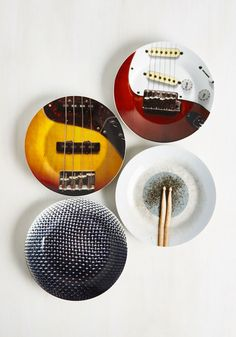 The Food Fighters Plate Set. Amp up your fare with these rockin side plates and youll be singing your way to meal satisfaction! #multi #modcloth