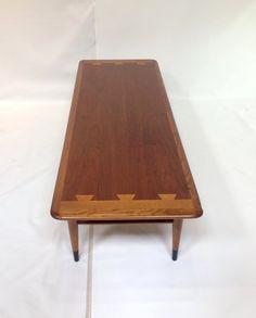 "Mid-Century Modern ""Acclaim"" Rectangular Walnut Coffee Table by Lane"
