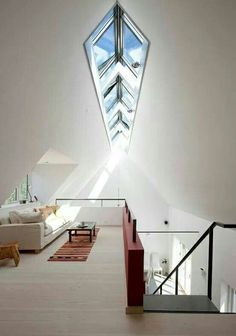 Sky light...and the idea of the little room is awesome!.