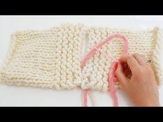#Tricot - La couture invisible pour le point mousse à l'horizontale - YouTube