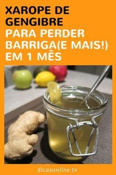 Xarope de gengibre com nabo, limão, mel e canela