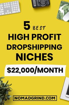 5 Best Shopify Dropshipping Niches For 2019 - Nomad Grind E Commerce Business, Business Marketing, Business Tips, Online Marketing, Marketing Ideas, Affiliate Marketing, Tshirt Business, Business Planner, Digital Marketing