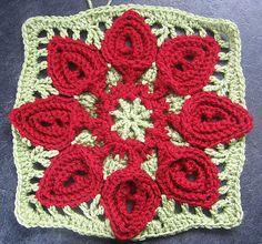 Photo Tutorial for Puritan Bedspread Petals. (Advanced Crochet)