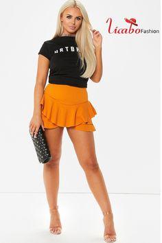 Womens Ruffled Frill Skorts High Waist Party Beach Mini Skirt Shorts Pants Women Shorts, Sexy Shorts, Short Skirts, Mini Skirts, Diva Fashion, Skorts, Long Pants, Slim Legs, Beach Party
