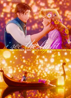 Day 15 Favorite Romantic Moment. Lantern scene with Rapunzel and Eugene. The way he looks at her...omg hands down I agree with Madison!