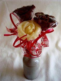 Roses de Chocolat noir, au lait, Blanc