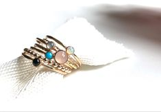 Simply beautiful, minimalist and elegant, perfect for your everyday or go out outfit. Featuring a 3mm natural Australian opal stone and handcrafted in Argentium Silver, 14k Yellow Gold Filled. Going Out Outfits, Australian Opal, Simply Beautiful, Cuff Bracelets, Gemstone Rings, Minimalist, Turquoise, Jewellery, Elegant