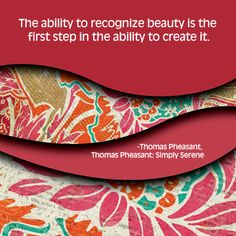 The ability to recognize...