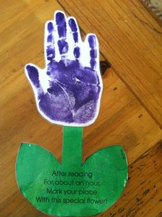 Great DIY Mother's Day gift idea -- Laminated bookmark that doubles as a tearful reminder of how small those hands once were