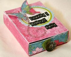 """Paisley Scraps: Altered Matchbox """"Memory Game"""""""