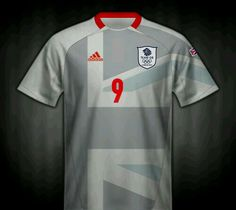 Great Britain away football shirt for the 2012 Olympic Games.