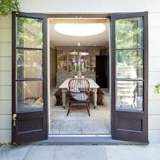 Used cleverly, French windows can frame a tantalising glimpse into your home as . - Used cleverly, French windows can frame a tantalising glimpse into your home as well as out of it. French Windows, French Doors Patio, Rustic Patio Doors, Farmhouse Patio Doors, Narrow French Doors, Bifold French Doors, Georgian Windows, Rustic Table, French Country Living Room