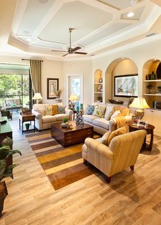 The Caaren – traditional – living room – tampa – by John Cannon Homes – Melinda … – Indian Living Rooms Living Room Interior, Interior Design Living Room, Living Room Designs, Living Room Decor, Simple Living Room, Spacious Living Room, Living Room Modern, Indian Living Rooms, Living Room Photos