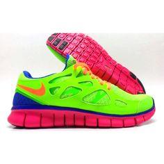 nike tennis shoes neon