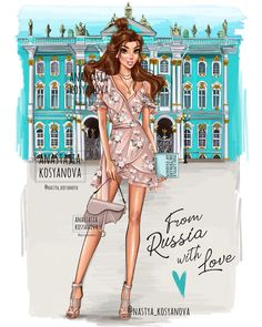 """My Belle? """"travel collection"""" From Russia ?This is a collection of travel and it is not related to the real place of disney… Disney Princess Modern, Modern Disney Characters, Disney Princess Fashion, Disney Princess Drawings, Disney Princess Pictures, Disney Drawings, Disney Pictures, Drawing Disney, Princess Style"""