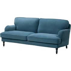 STOCKSUND Sofa cover IKEA The cover is easy to keep clean as it is removable and can be machine washed. Brown Wood, Black Wood, Stocksund Sofa, Brown And Blue Living Room, Sofa Legs, Sofa Frame, Fabric Sofa, Ikea Fabric, Sofa Furniture