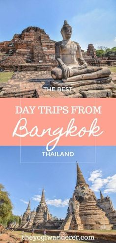 The best day trips from Bangkok, Thailand to add to your bucket list. Top travel destinations for a day tour from Bangkok, including stunning temples, historical cities and lush national parks. Plus what to do and how to get there. #Bangkokdaytrips #Bangkok #Thailand #SoutheastAsia