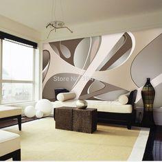 3d wallpaper European minimalist bedroom living room TV backdrop KTV stripes abstract  mural wallpaper