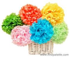 Mexican paper flowers video tutorial pinterest mexican paper mexican tissue paper flowers craft note to self try making these using coffee filters dipped in red and green dye mightylinksfo