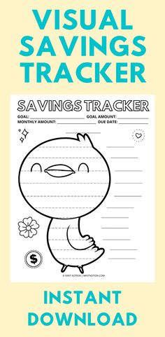 Do you have a big savings goal that you want to reach? This cute bird savings tracker can help you stay motivated while saving to hit your goal. Perfect for kids and kids at heart! Whether you want to build an emergency fund, pay off debt, or save for a big purchase, this savings tracker can help you get there. Having a visual tracker is so helpful and it's a fun way to track your progress. Hang it up on your wall or fridge and watch your savings grow! Sinking funds chart. Weekly Meal Plan Template, Monthly Budget Template, Savings Goal, Sinking Funds, Life On A Budget, Paying Off Student Loans, Money Challenge, Create A Budget, Saving For Retirement