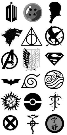 Which is your fandom? Oh who am I kidding like of these are my fandoms xD Anime Tattoos, Dog Tattoos, Mini Tattoos, Body Art Tattoos, Small Tattoos, Tattoos For Guys, Sketch Tattoo Design, Tattoo Sketches, Tattoo Drawings