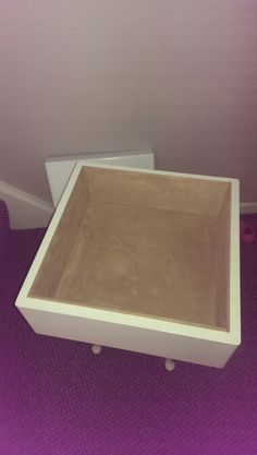 Faux suede lined memory box..