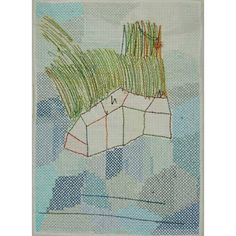Kjm rarely ( Embroidery on paper and interfacing Contemporary Art, Abstract Art, Exercise, Embroidery, Stitch, Paper, Instagram, Excercise, Needlework