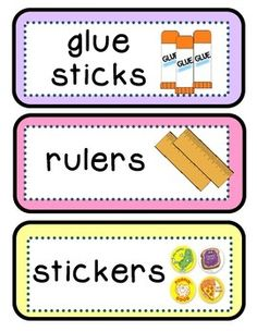 These 63 JUMBO CLASSROOM  LABELS are easy-to-read and great for incorporating into a print-rich classroom. Great year-round as practice words with pictures. The items on the labels are listed below.They are great visuals for early childhood classrooms and ESL classrooms; especially for those students who are emergent readers and need the picture support.