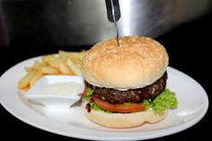 Tomi's Chef's Special - Homemade Venison Burger with Spicy Plum sauce Venison Burgers, Plum Sauce, Main Meals, Hamburger, Spicy, Homemade, Ethnic Recipes, Food, Hamburgers