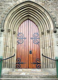 Hobart, Tasmania: door to St David's Cathedral Hobart.