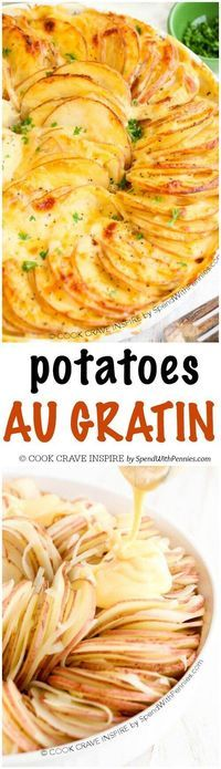Potatoes Au Gratin is easy to make and is one of my favorite side ...