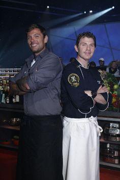 2 of my favorite chefs. In battle lobstaaaaaaaaaaa Personal Chef, Film Stills, Chefs, Food Network Recipes, Bobby, Musicians, Foodies, Chef Jackets, Drinking