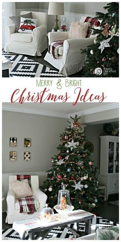 Decorating for Christmas | Find simple, stylish and inexpensive ways to decorate for the holidays. Traditional colors never looked so new! Find more on Today's Creative Life   #sponsored #BHGLiveBetter