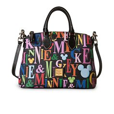 Mickey and Minnie Mouse Rainbow Crossbody Satchel by Dooney & Bourke | Bags & Totes | Disney Store