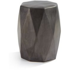 Brayden Gunmetal Garden Stool (220 CAD) ❤ Liked On Polyvore Featuring Home,  Outdoors