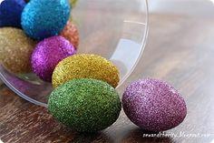 DIY Easter : DIY Glitter Easter eggs