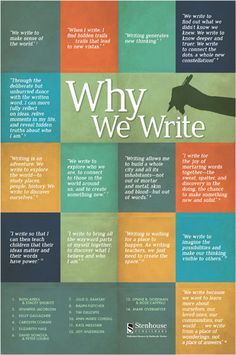 Why do writers write...
