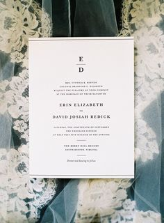 Simple Elegance letterpress wedding invitations from Bella Figura
