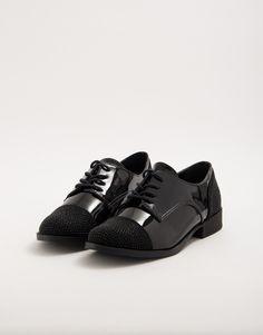 5056806a63 Sapato Oxford Verniz Preto