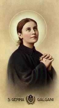 Saint Gemma is the Patron Saint of students, pharmacists, paratroopers and parachutists, loss of parents, those suffering back injury or back pain, those suffering with headaches/migraines, those struggling with temptations to impurity and those seeking purity of heart. Dear St. Gemma, pray for us.<3