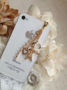 I Love Paris iPhone 5 dust plug Phone plug and charm by ComfyZone, $10.00