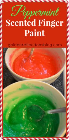 Peppermint Scented Homemade Finger Paint + Occupational Therapy tips for kids! | Golden Reflections Blog #Christmas #Sensory #SpecialNeeds