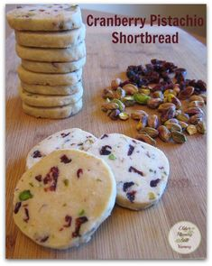 This recipe for Cranberry Pistachio Shortbread Cookies is a modern ...