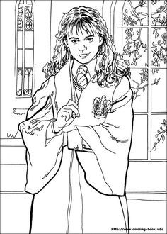 Harry Potter and the Sorcerer's Stone (1997). Coloring Page.