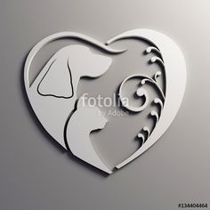 """Download the royalty-free photo """"Dog and Cat Lover with Heart. 3D Rendering Illustration"""" created by Fotolia365 at the lowest price on Fotolia.com. Browse our cheap image bank online to find the perfect stock photo for your marketing projects!"""