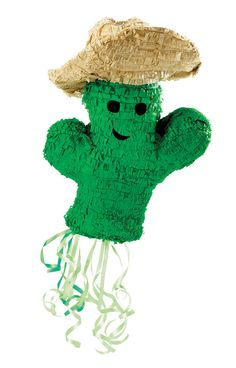 """Cowboy Cactus 19"""" Pull-String Pinata Includes Pinata. Weight (lbs) 0.82 Length (inches) 19 Width (inches) 17 Height(inches) 8.5"""