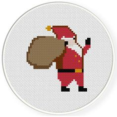 FREE for Dec 25th 2015 Only - Santa Claus Cross Stitch Pattern