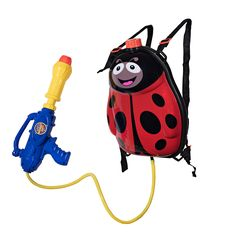 Toyrifik Water Gun Backpack Water Blaster For kids -Water Shooter With Tank Lady Bug Toys For Kids- Summer Outdoor Toys For Pool Beach Water Toys For Kids. Backpack water gun, no more refilling. Ideal for water wars and outdoor fun, for toddlers and kids. Sturdy backpack will store the water and keep the game going at high speed. Wide strapped and lightweight, this backpack is easy for kids to carry without causing back strain. This powerful pistol will satisfy you with its far and…