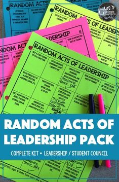 Random Acts of Leadership- great way to incorporate kindness and service into your middle/high school Student Council or Leadership class! Leadership Games, Leadership Classes, Leadership Abilities, Student Leadership, Educational Leadership, Leadership Development, Leadership Quotes, Student Gov, Leadership Workshop