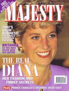 Majesty Magazine 1995 : Princess Diana's Fashion & Family Secrets ...